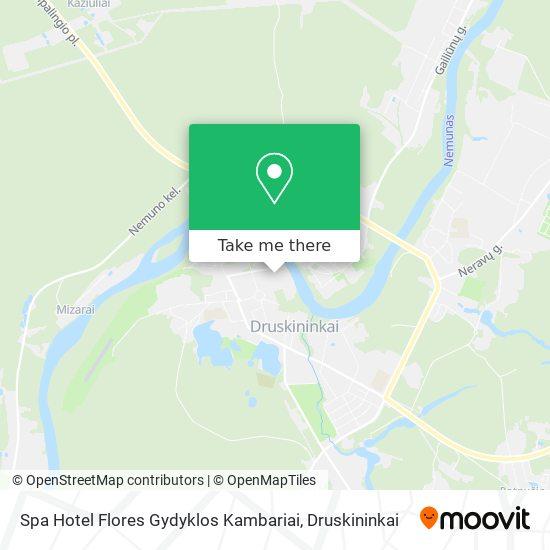 Spa Hotel Flores Gydyklos Kambariai map