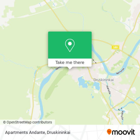 Apartments Andante map