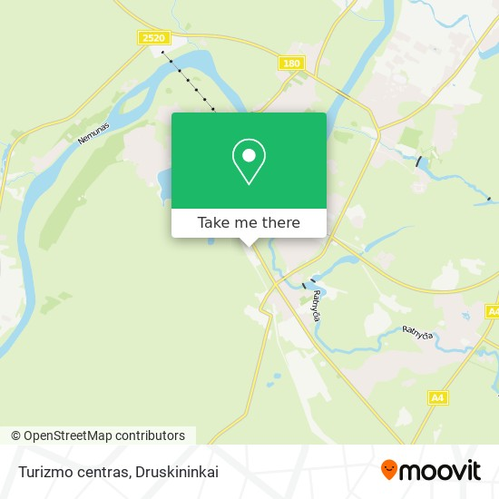Turizmo centras map