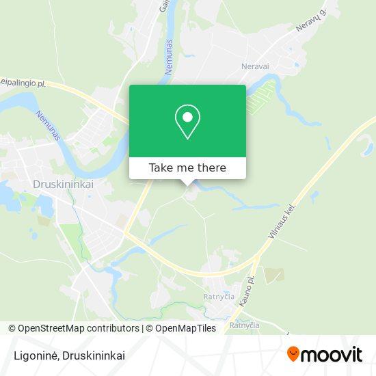 Ligoninė map