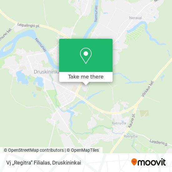 """Vį """"Regitra"""" Filialas map"""