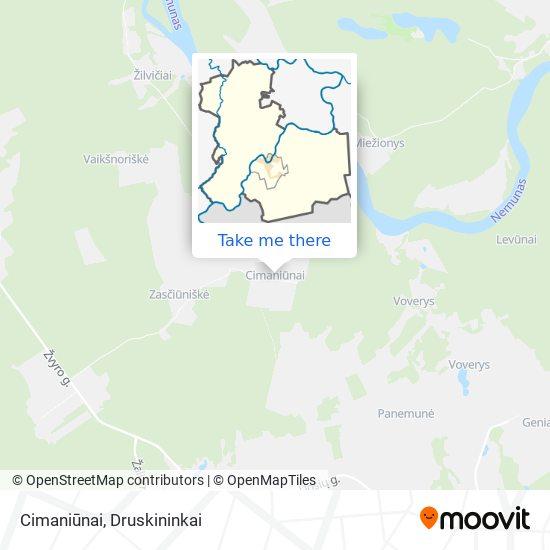 Cimaniūnai map