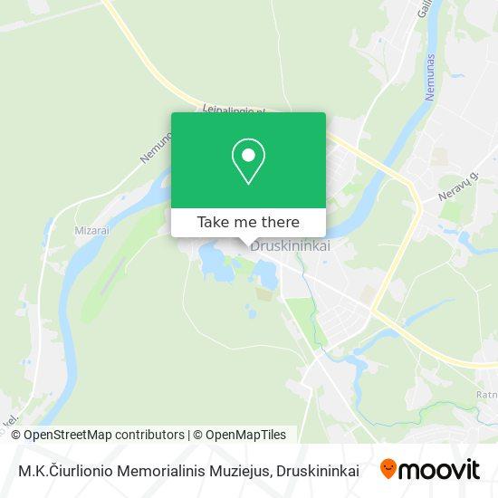 M.K.Čiurlionio Memorialinis Muziejus map
