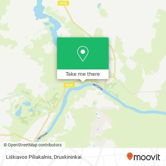 Liškiavos Piliakalnis map