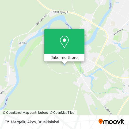 Ež. Mergelių Akys map