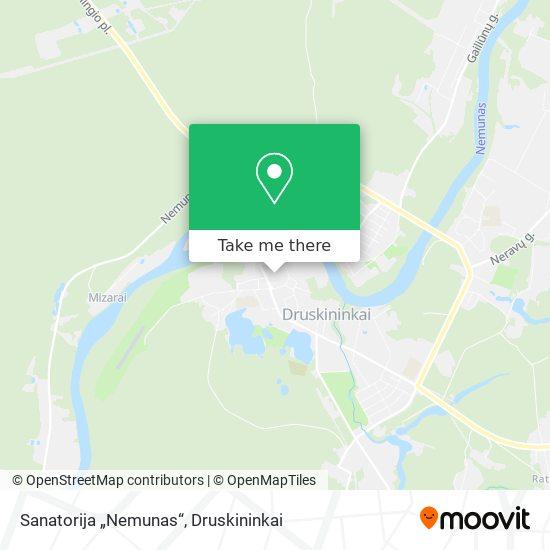 """Sanatorija """"Nemunas"""" map"""