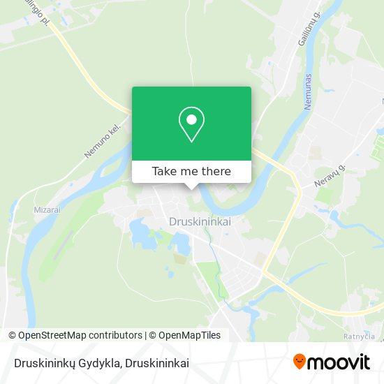 Druskininkų Gydykla map