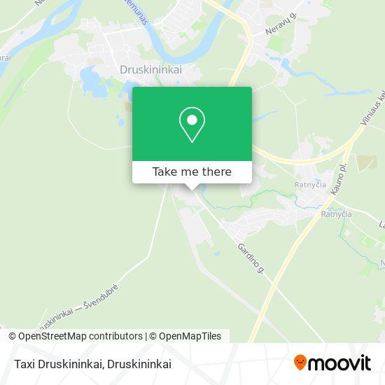 Taxi Druskininkai map