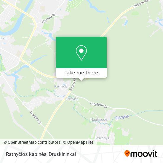 Ratnyčios kapinės map