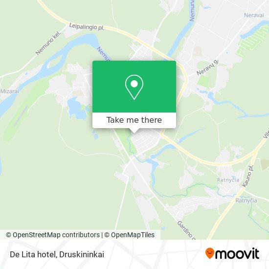 De Lita hotel map