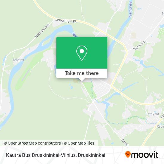 Kautra Bus Druskininkai-Vilnius map