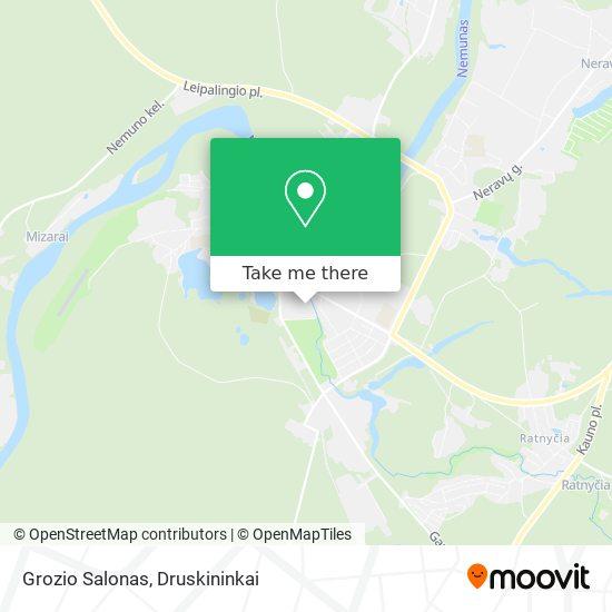 Grozio Salonas map