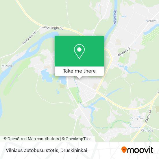 Vilniaus autobusu stotis map