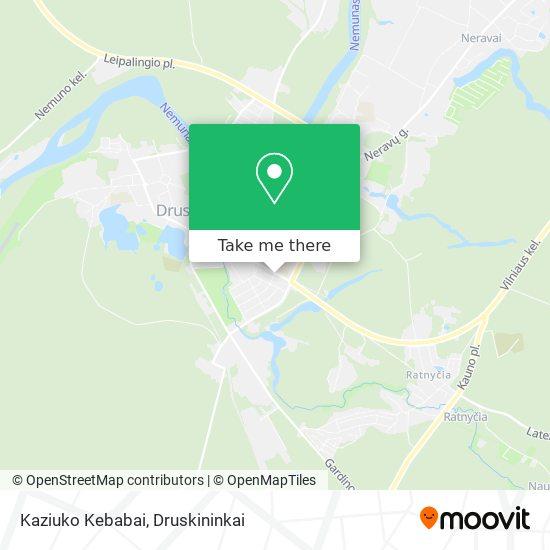 Kaziuko Kebabai map