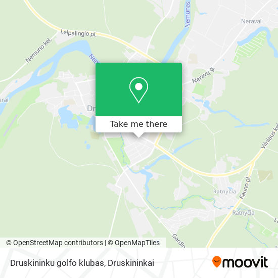 Druskininku golfo klubas map