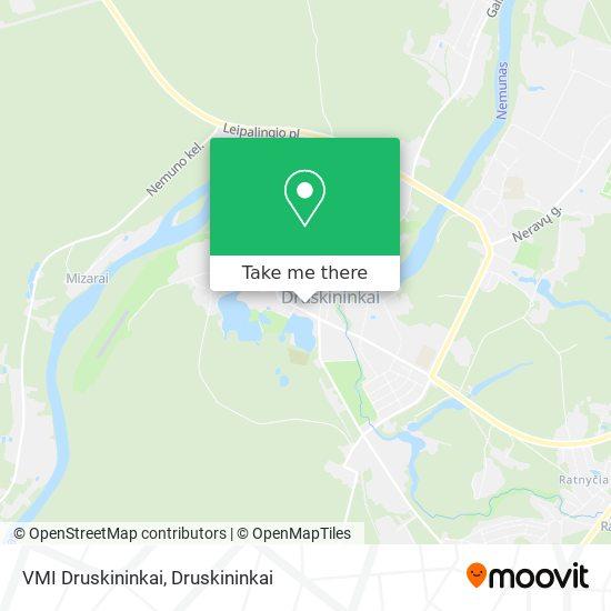 VMI Druskininkai map