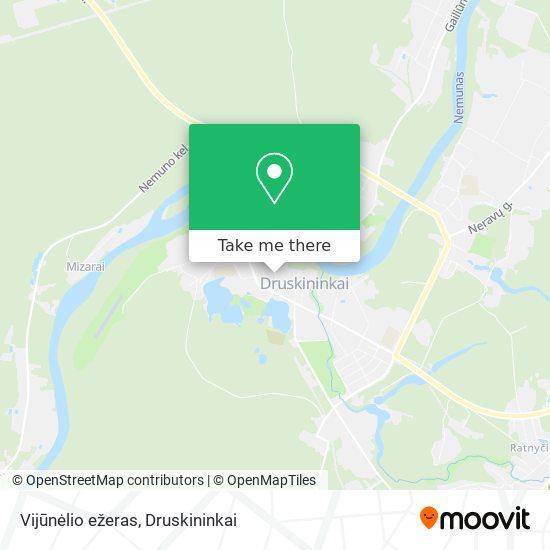 Vijūnėlio ežeras map