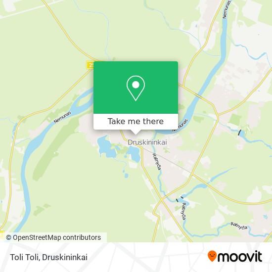 Toli Toli map