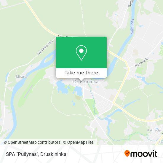 "SPA ""Pušynas"" map"