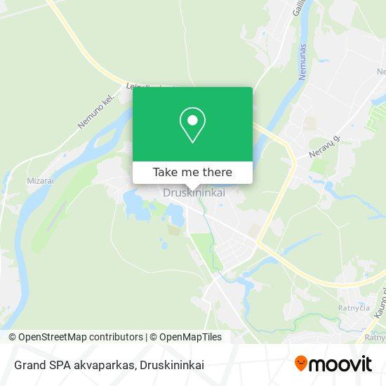 Grand SPA akvaparkas map