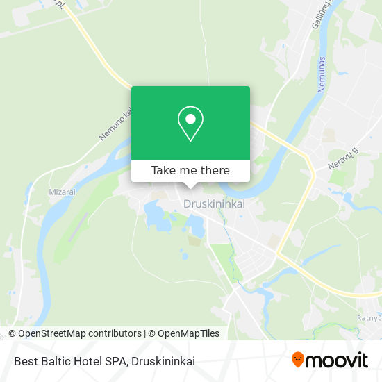 Best Baltic Hotel SPA map