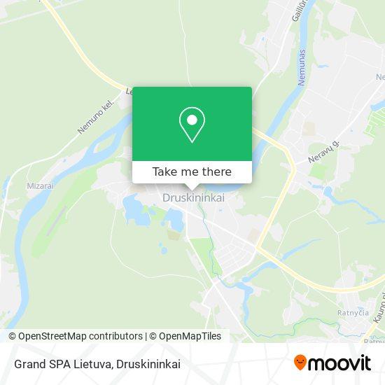 Grand SPA Lietuva map