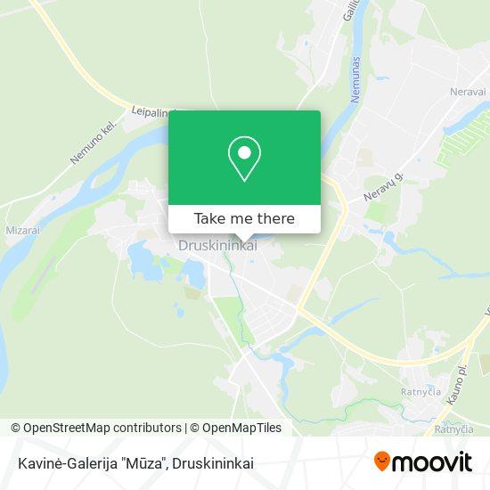 """Kavinė-Galerija """"Mūza"""" map"""