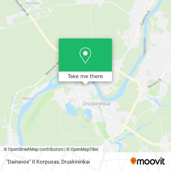 """Dainavos"" II Korpusas map"