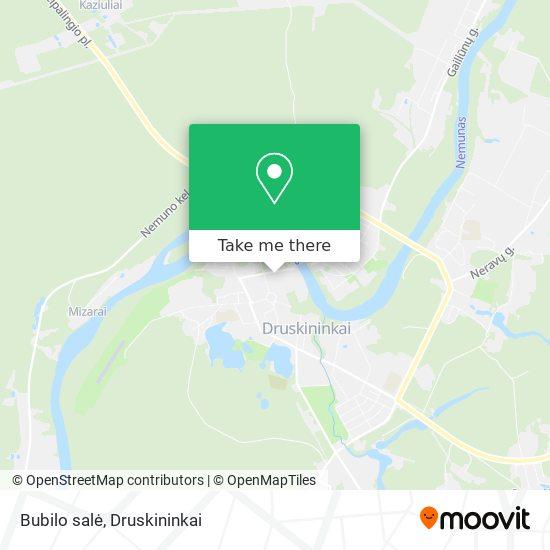 Bubilo salė map