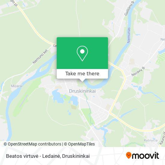 Beatos virtuvė - Ledainė map