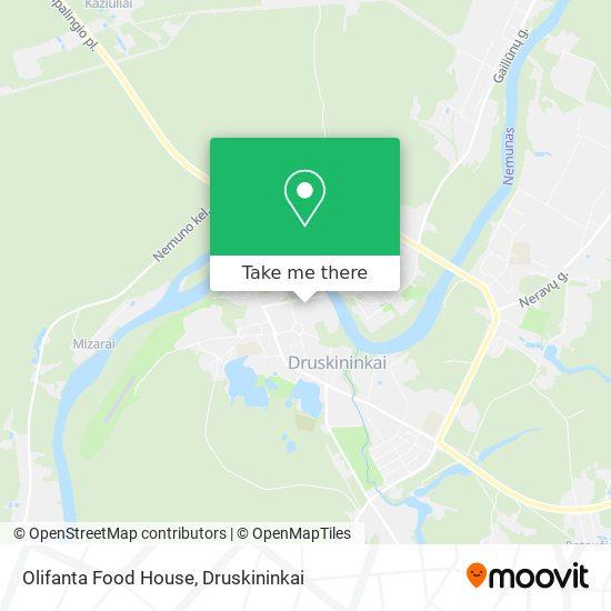 Olifanta Food House map