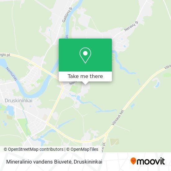 Mineralinio vandens Biuvetė map