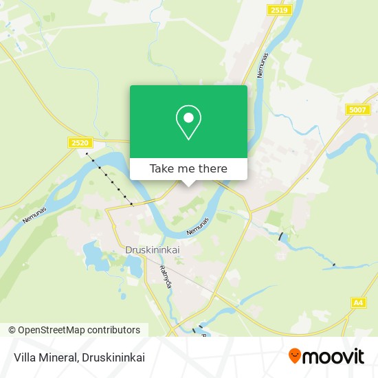Villa Mineral map
