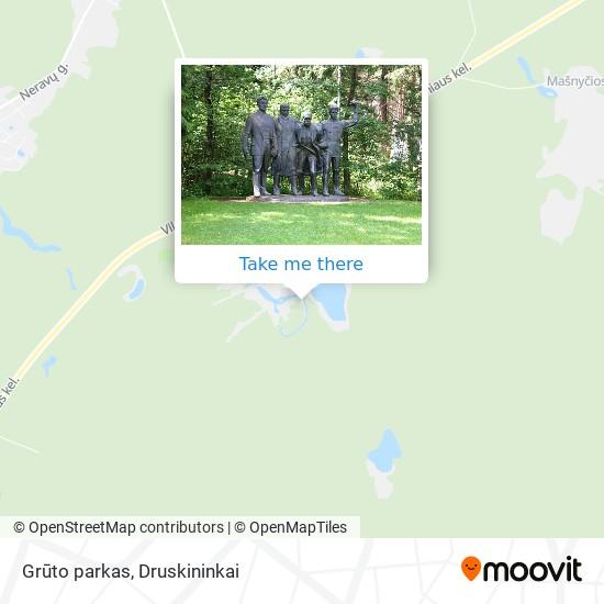 Grūto parkas map