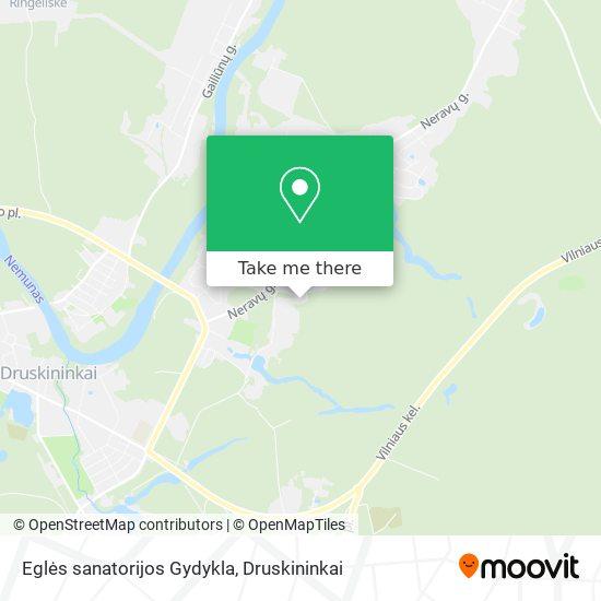 Eglės sanatorijos Gydykla map