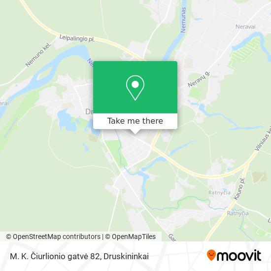 M. K. Čiurlionio gatvė 82 map