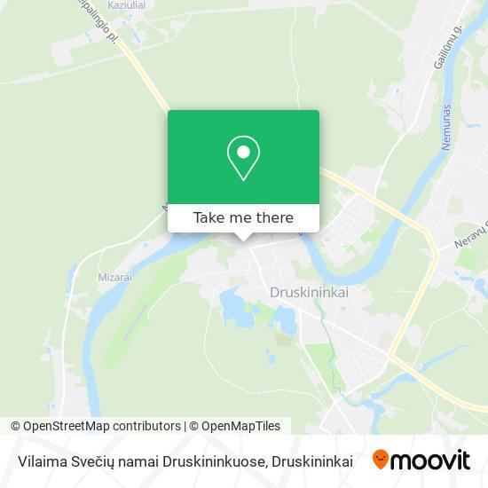 Vilaima Svečių namai Druskininkuose map