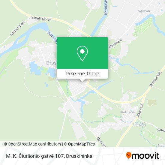 M. K. Čiurlionio gatvė 107 map
