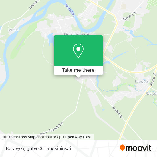 Baravykų gatvė 3 map
