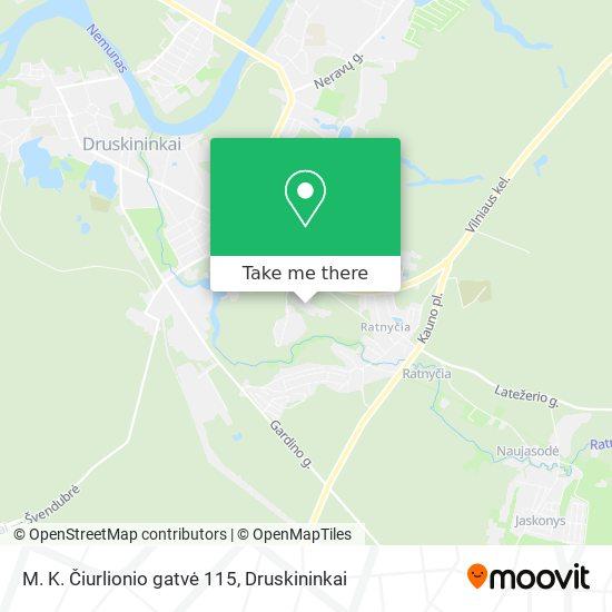 M. K. Čiurlionio gatvė 115 map