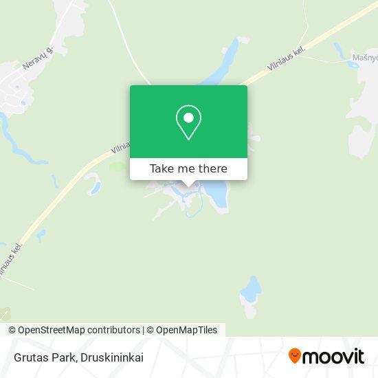 Grutas Park map