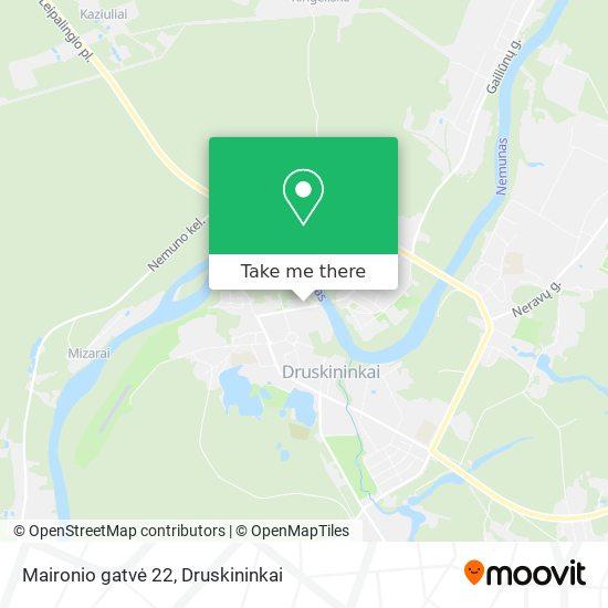 Maironio gatvė 22 map