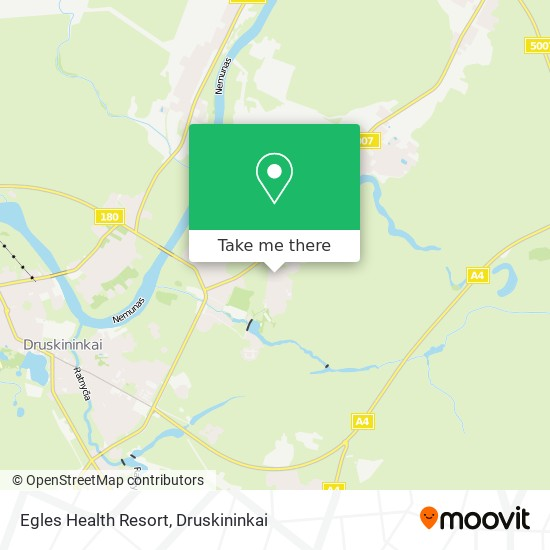Egles Health Resort map