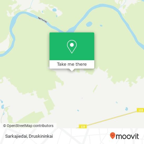 Sarkajiedai map