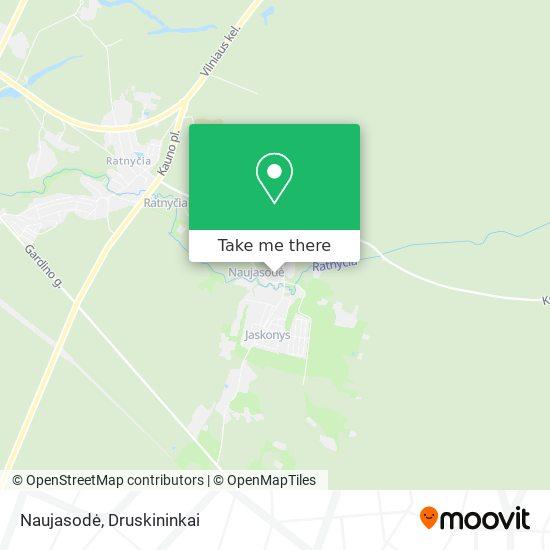 Naujasodė map