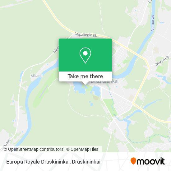 Europa Royale Druskininkai map