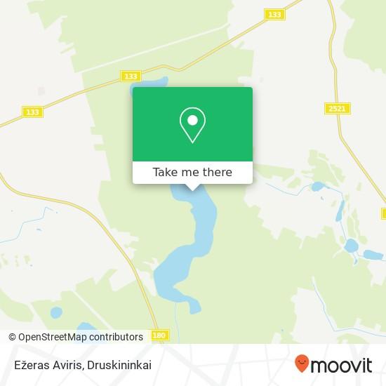 Ežeras Aviris map