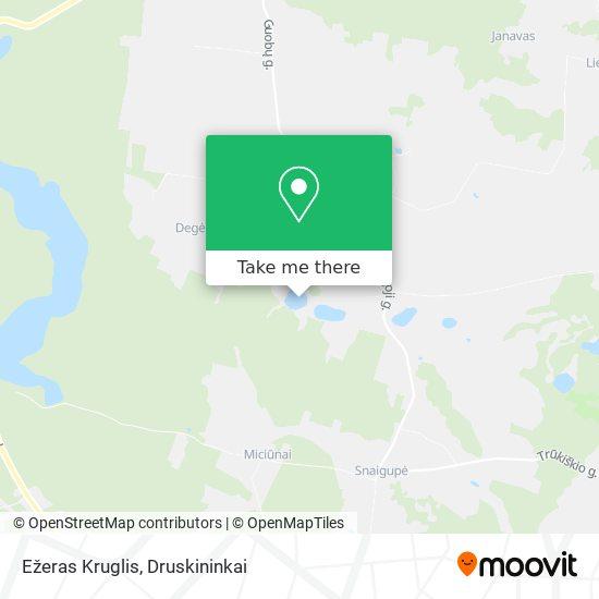 Ežeras Kruglis map