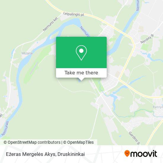 Ežeras Mergelės Akys map