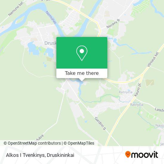 Alkos I Tvenkinys map